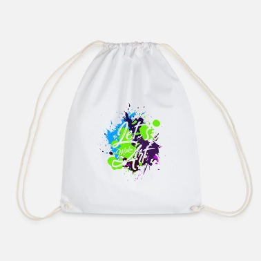 Art Art abstract art modern art gift - Drawstring Bag