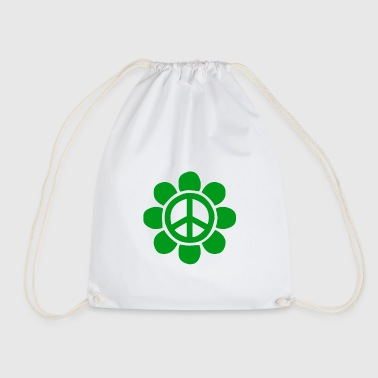 Green peace flower for peace - Drawstring Bag