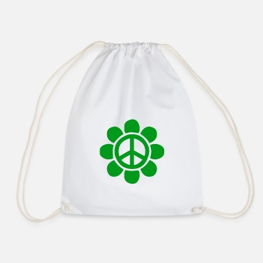 Green Peace Green peace flower for peace - Drawstring Bag