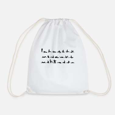 Sex Position Sex Positions Design White - Drawstring Bag