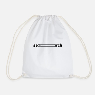 Internet Search T-shirt with Search, Search on the Internet, Computer - Drawstring Bag