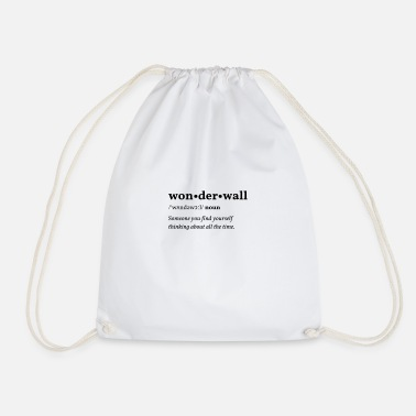 Liam Gallagher Wonderwall (protective wall) Clean Edition - Drawstring Bag