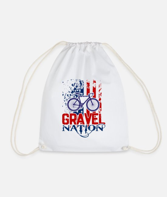 Mountains Bags & Backpacks - Gravelnation USA - Perfect Graphic Design - Drawstring Bag white