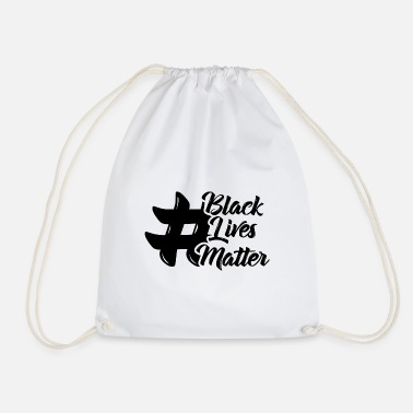 Injustice Black Lives Matter Quotes Graphic Tee - Drawstring Bag
