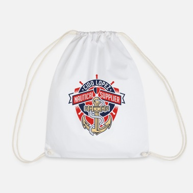 Graphic Art Nautical Graphic Art - Drawstring Bag