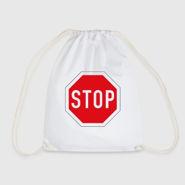 Stop Sign stop sign - Drawstring Bag