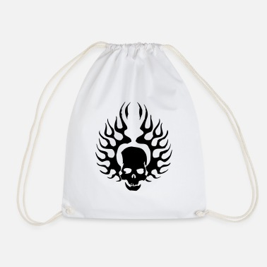 Burning Skull - Drawstring Bag