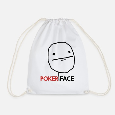 Pokerface pokerface - meme - stick figure - Sac à dos cordon