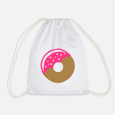 Frost Donut with frosting - Drawstring Bag