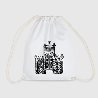 Corona crown crown koenig king castle castle tower burg8 - Drawstring Bag