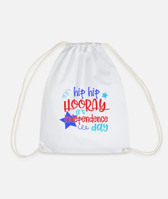 Sexy Bags & Backpacks - Hip Hip Independence - Drawstring Bag white