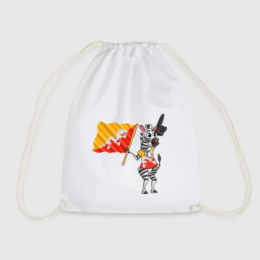 Bhutan zebra - Drawstring Bag