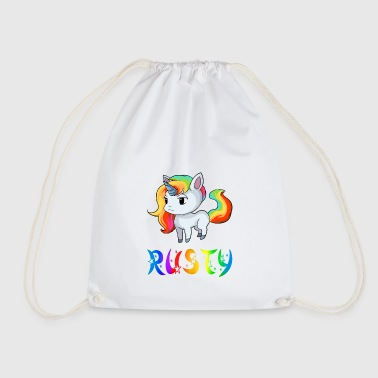 Rusty Unicorn Rusty - Drawstring Bag