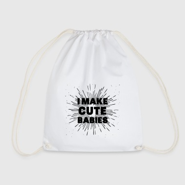 Sweet babies offspring pregnancy offspring - Drawstring Bag