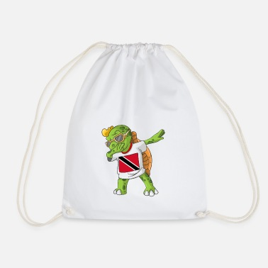 Trinidad And Tobago Trinidad and Tobago Dabbing turtle - Drawstring Bag