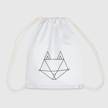 Fox outline - Drawstring Bag