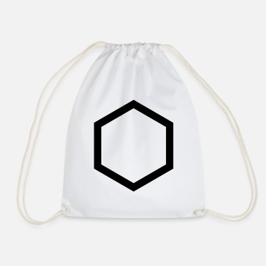 Hexagon hexagon - Drawstring Bag