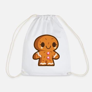 Shop Gingerbread Man Drawstring Bags Online Spreadshirt