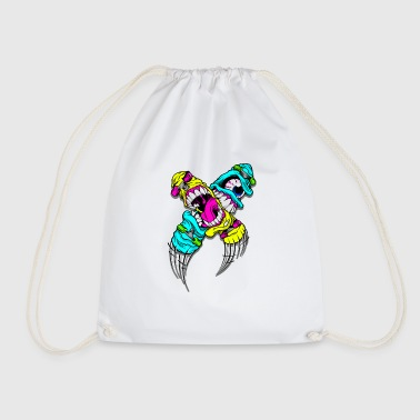 Devils Cartoon Cartoon Character - Drawstring Bag