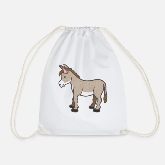 Horse Bags & Backpacks - ass - Drawstring Bag white
