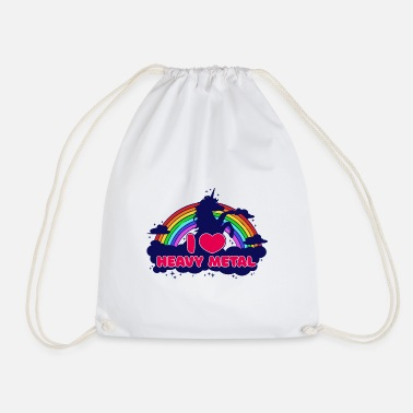 Heavy Metal J'adore le heavy metal licorne hard rock hard rock - Sac à dos cordon