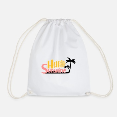 hello sunshine - Drawstring Bag