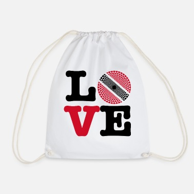 Trinidad And Tobago TRINIDAD TOBAGO HEART - Drawstring Bag