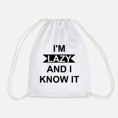 Lazy Lazy - Drawstring Bag