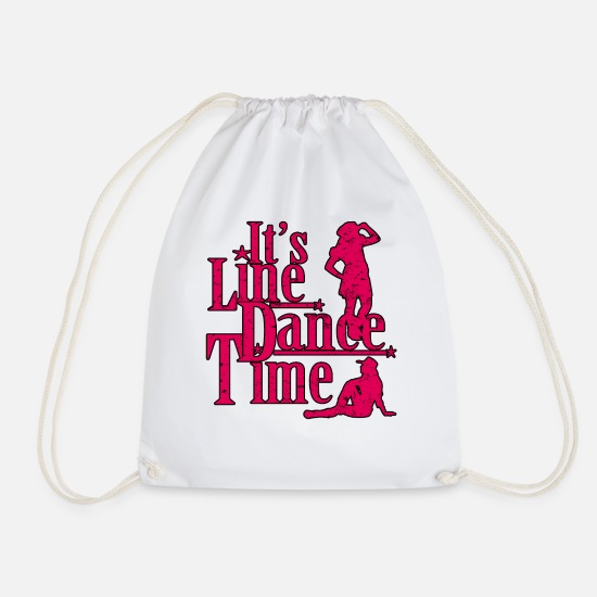 Line Bags & Backpacks - line dance - Drawstring Bag white