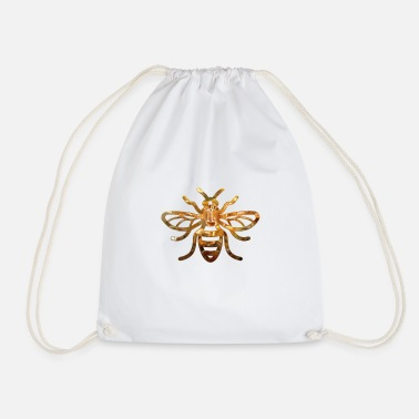 Manchester Manchester Bee GOLD - Drawstring Bag