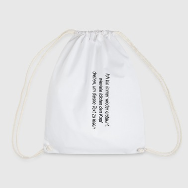 turn head - Drawstring Bag