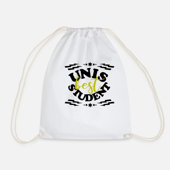 Gift Idea Bags & Backpacks - Unis best student uni party black - Drawstring Bag white