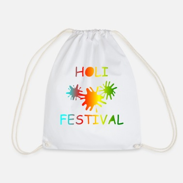 KEEP CALM, music, cool, Holi, festival - Drawstring Bag