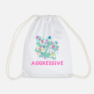 Aggressive aggressive - Drawstring Bag