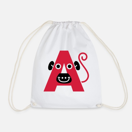 Pregnancy Bags & Backpacks - letter A - Drawstring Bag white