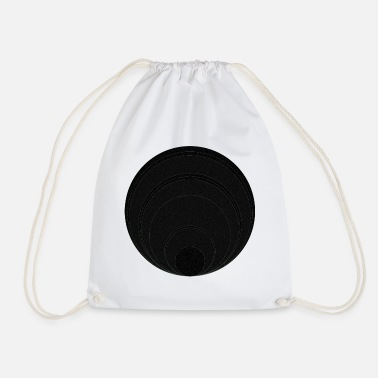 Circle Circle in circle in circle - Drawstring Bag