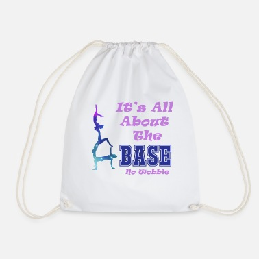 All About The Base by Realtai - Drawstring Bag