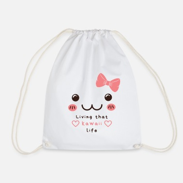 Living that kawaii life - Drawstring Bag