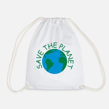 Planet save the planet - Drawstring Bag