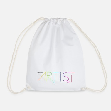 Wealthy wealthy artist - Rainbow / Colorful / Gift - Drawstring Bag