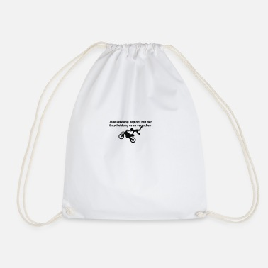 Motivational Motivation with motive - Drawstring Bag