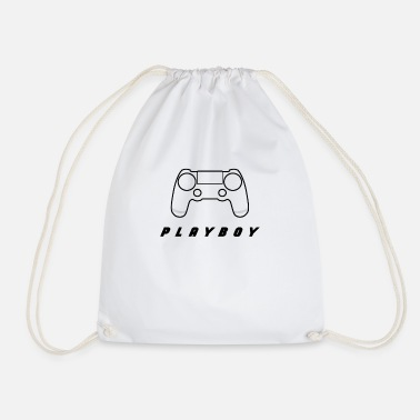 Witty Controller with witty lettering - Drawstring Bag