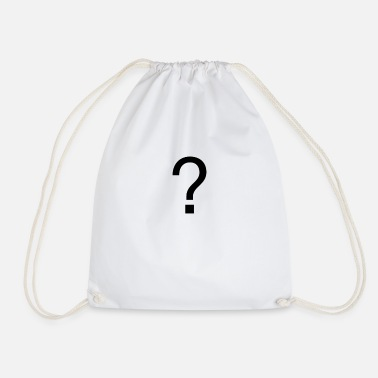 Question mark - Drawstring Bag