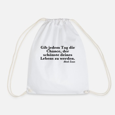 Famous Quotes Famous quote - Drawstring Bag