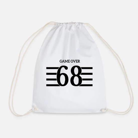 Game Over Bags & Backpacks - game over - Drawstring Bag white