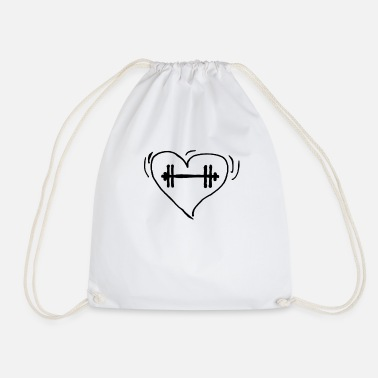 Weightlifting love - Drawstring Bag