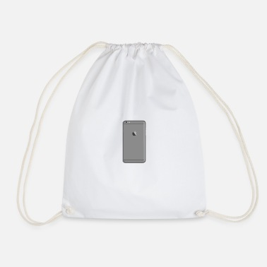 Mobile Phone Phone Mobile Phone Mobile Number Shirt Gray - Drawstring Bag