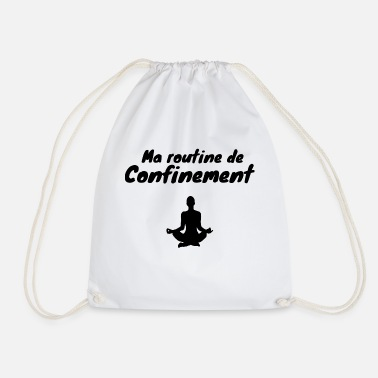 Coronavirus Confinement de-confinement yoga humor - Drawstring Bag