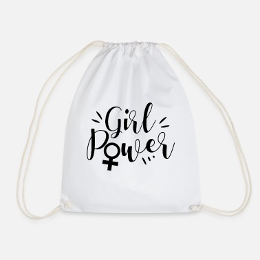 Woman Power Girl power Woman power - Drawstring Bag