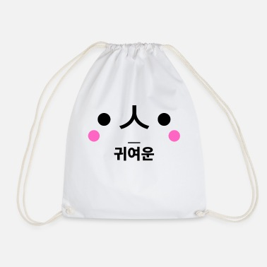 Korean Design Sweet face - Korean design - white - Drawstring Bag
